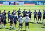 Zwei Tage vor dem Spiel gegen Portugal konnte das DFB-Team nicht in voller Mannstärke trainieren. Foto: Federico Gambarini/dpa