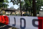 Der Tatort wurde weiträumig abgesperrt. Foto: Lino Mirgeler/dpa