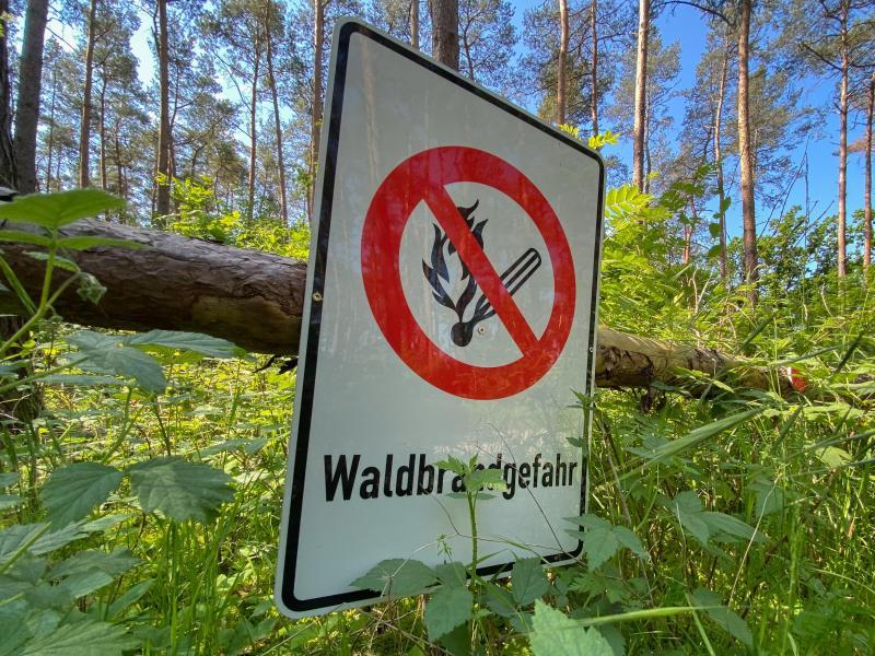 Mit der ersten Hitzewelle des Jahres in Deutschland steigt die Gefahr von Waldbränden weiter an. Foto: Julian Stratenschulte/dpa