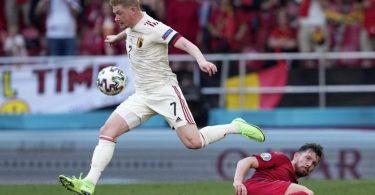 Belgiens Sieggarant gegen Dänemark: Kevin De Bruyne. Foto: Martin Meissner/AP Pool/dpa