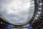 Finalort der Fußball-EM 2021: Das Wembley-Stadion in London. Foto: Glyn Kirk/Nmc Pool/PA Wire/dpa