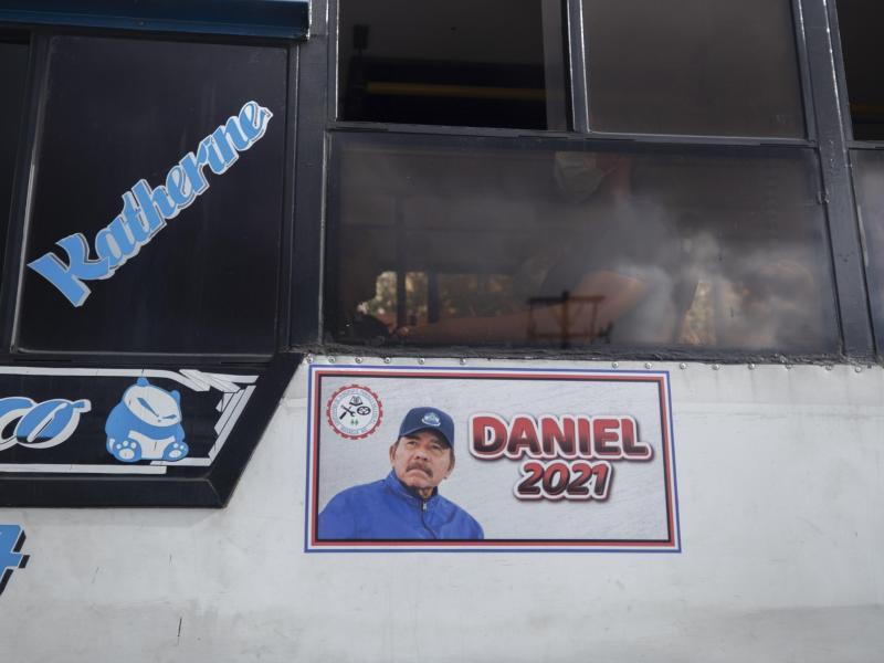 Wahlwerbung für Daniel Ortega. Foto: Miguel Andres/AP/dpa