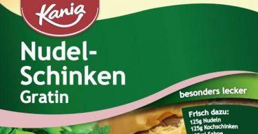 Der Schweizer Hersteller Haco ruft das Produkt «Kania Fix Nudel-Schinken Gratin» zurück. Foto: Lidl/Lidl/obs