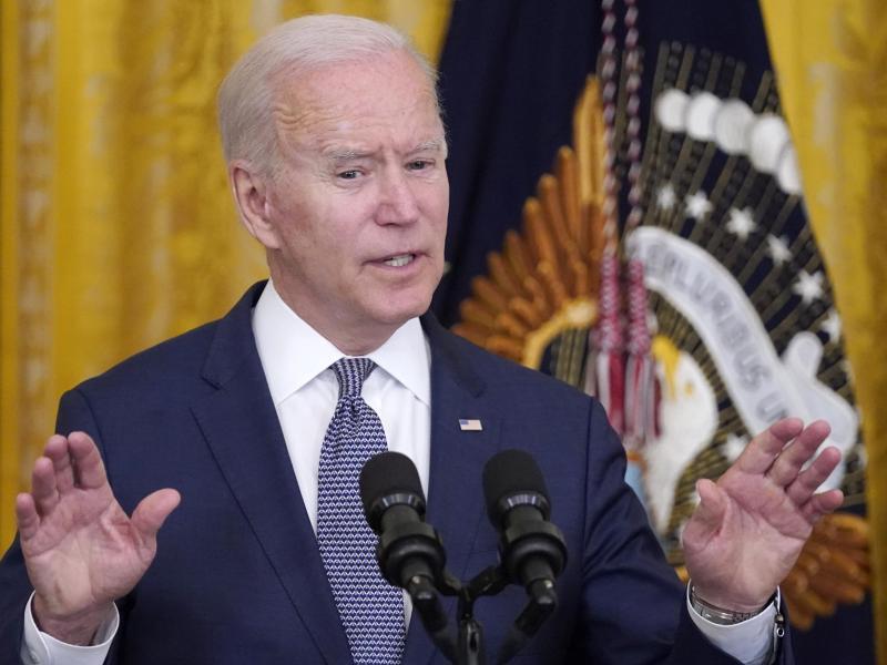 Mit eindringlichenWorten hatte US-Präsident Biden für die Wahlrechtsreform geworben - er sieht die Demokratie «in Gefahr, hier, in Amerika». Foto: Evan Vucci/AP/dpa