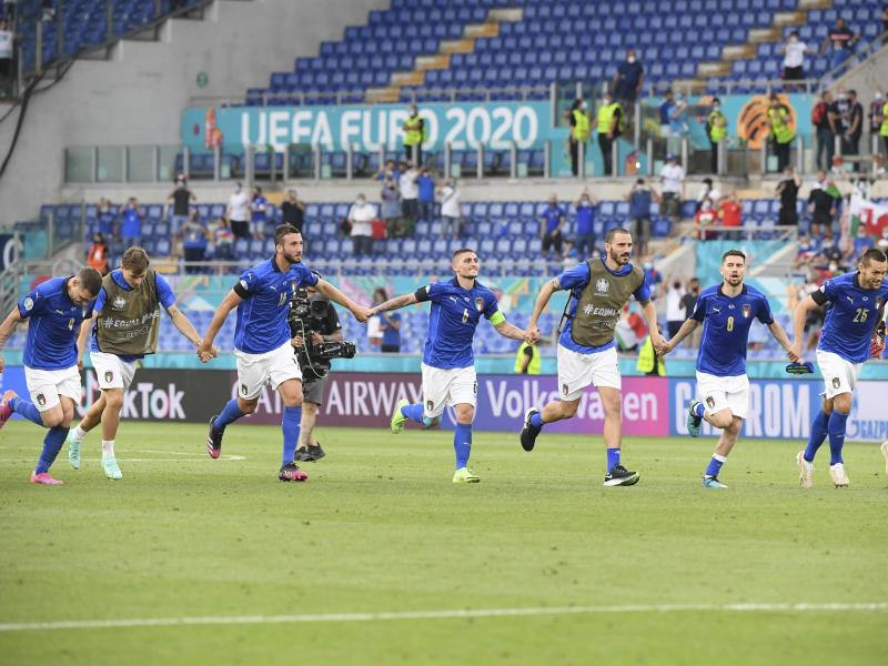 Italien gab im Turnier bislang am meisten Torschüsse ab. Foto: Alberto Lingria/POOL Reuters/dpa