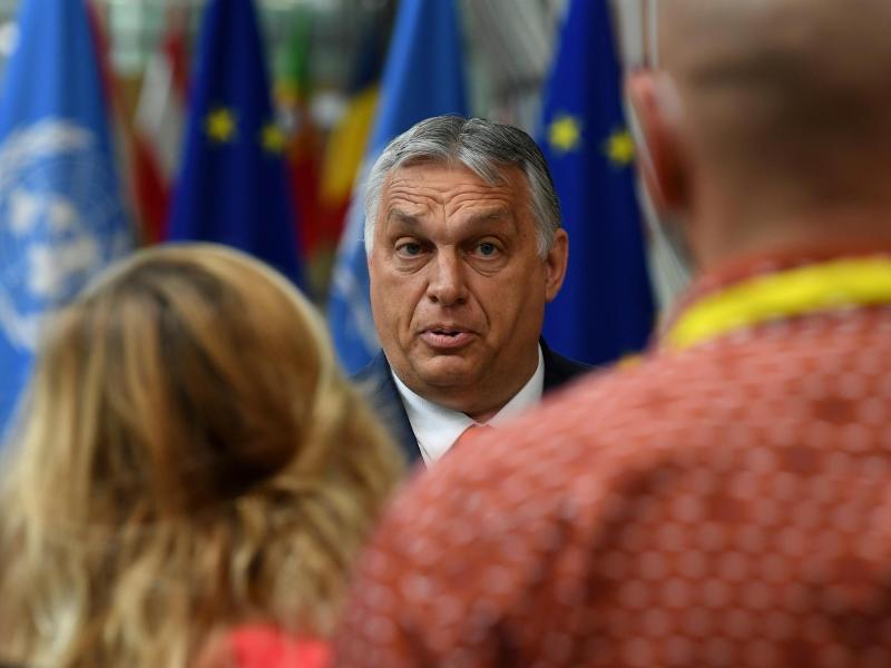 Will das geltende Gesetz keinesfalls wieder zurückziehen: Viktor Orban, Ministerpräsident von Ungarn. Foto: John Thys/AFP/AP/dpa