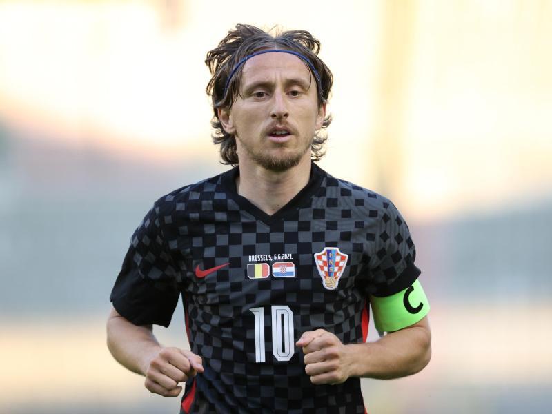 Der einzige Spieler von Real Madrid im Achtelfinale Spanien gegen Kroatien ist Luka Modric, ein Kroate. Foto: Virginie Lefour/BELGA/dpa