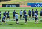 Letzte Übungseinheit vor Wembley: Das DFB-Team beim Abschlusstraining in Herzogenaurach. Foto: Federico Gambarini/dpa