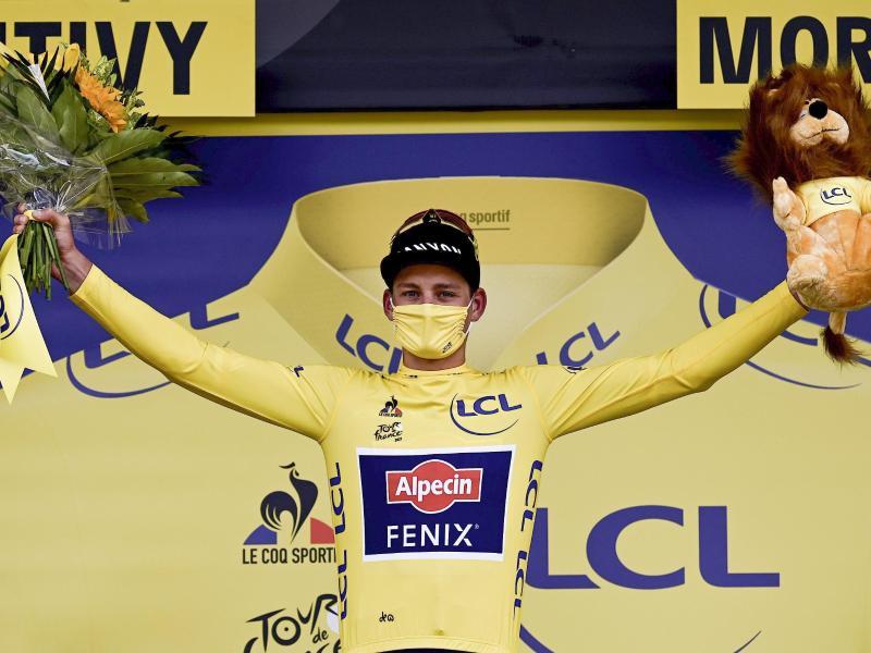 Sollte auf der 4. Etappe das Gelbe Trikot verteidigen können: Der Niederländer Mathieu van der Poel. Foto: Philippe Lopez/Pool AFP/AP/dpa