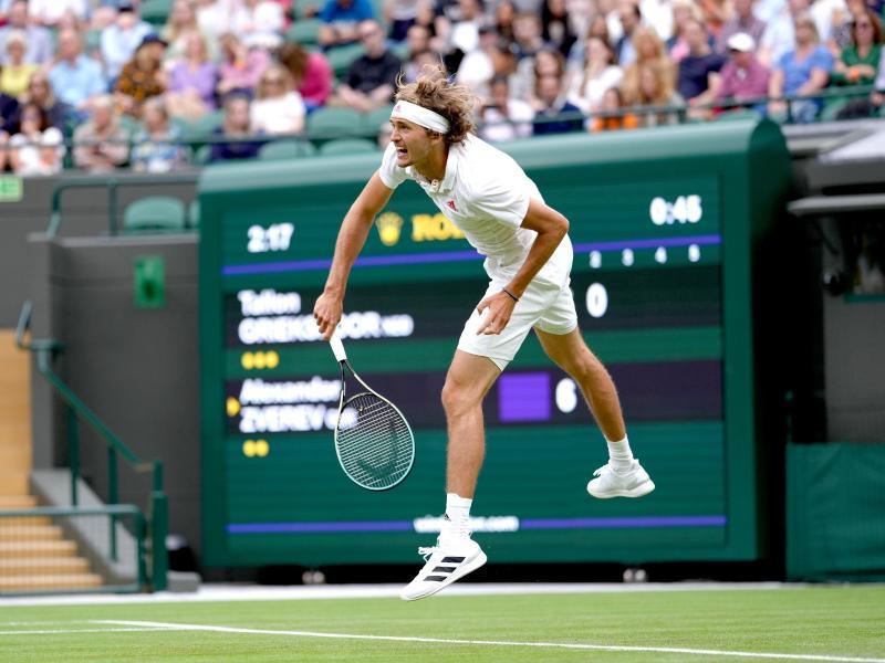 Hatte bei seinem Erstrunden-Match in Wimbledon keine Probleme: Alexander Zverev. Foto: John Walton/PA Wire/dpa