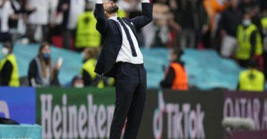 Will mit England ins EM-Finale: Gareth Southgate. Foto: Frank Augstein/Pool AP/dpa