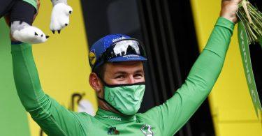 Durch seinen Etappensieg eroberte Mark Cavendish auch das Grüne Trikot. Foto: Pool Luca Bettini/BELGA/dpa