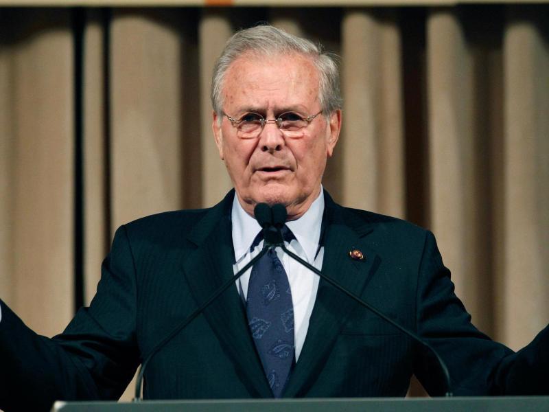 Donald Rumsfeld war von 2001 bis 2006 Pentagon-Chef unter dem damaligen Präsidenten George W. Bush. Foto: Wally Santana/AP/dpa