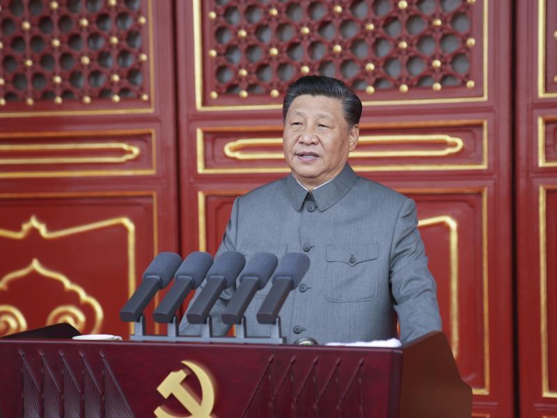Xi Jinping hat die absolute Führungsrolle der Kommunistischen Partei unterstrichen. Foto: Li Xueren/XinHua/dpa