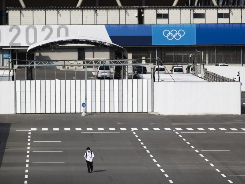 Die Olympischen Spiele in Tokio könnten ohne Fans stattfinden. Foto: Hiro Komae/AP/dpa