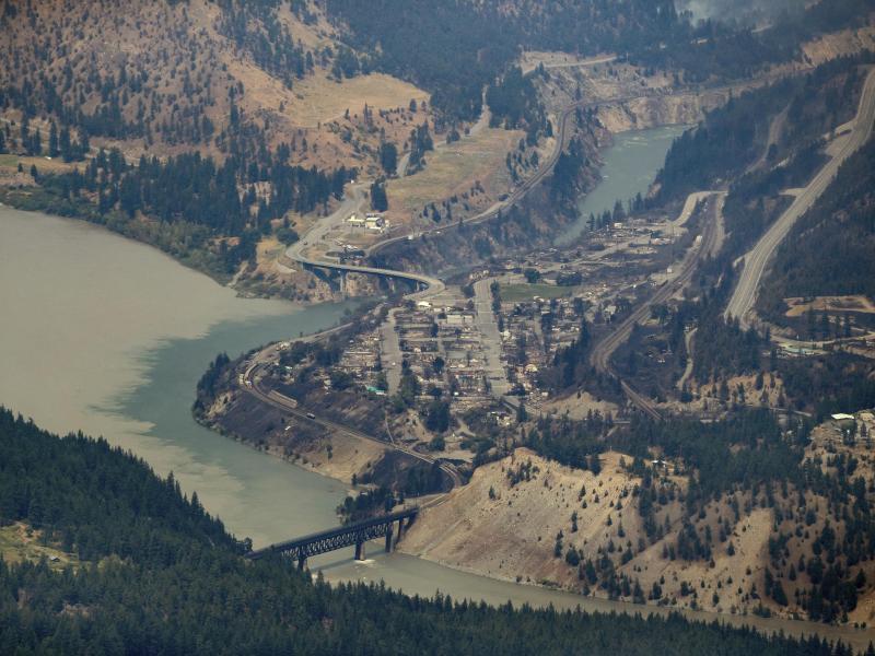 Vom Feuer zerstört:Lytton in British Columbia. Foto: Darryl Dyck/The Canadian Press/dpa