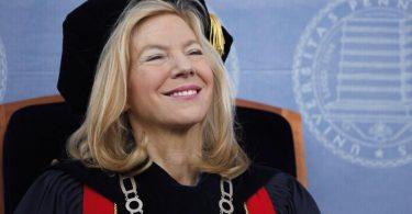 Amy Gutmann, die 71-jährige Präsidentin der renommierten Pennsylvania University, soll US-Botschafterin in Deutschland werden. Foto: Matt Rourke/AP/dpa
