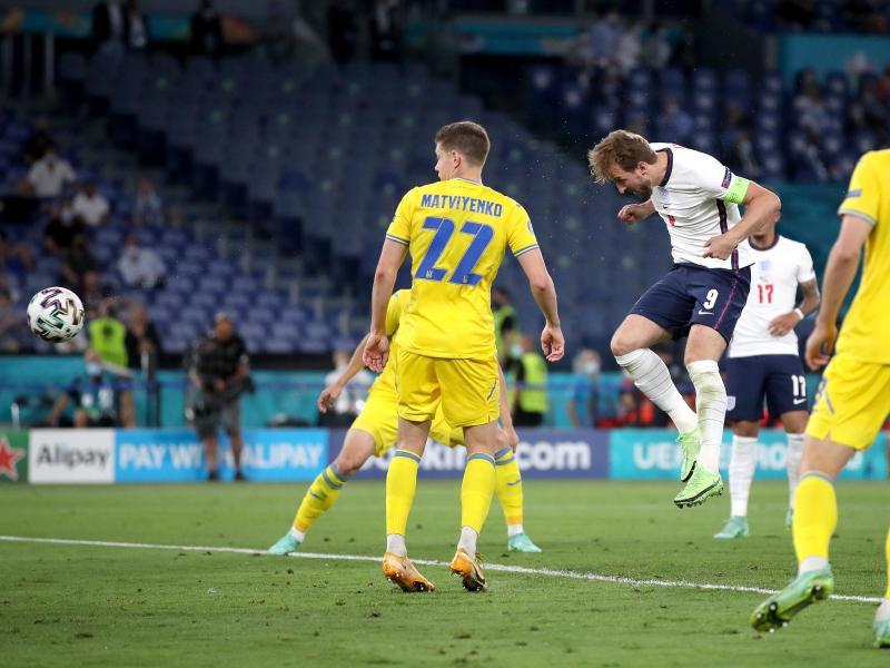 Das Tor zur 3:0-Führung erzielt Englands Harry Kane (M) per Kopf. Foto: Nick Potts/PA Wire/dpa