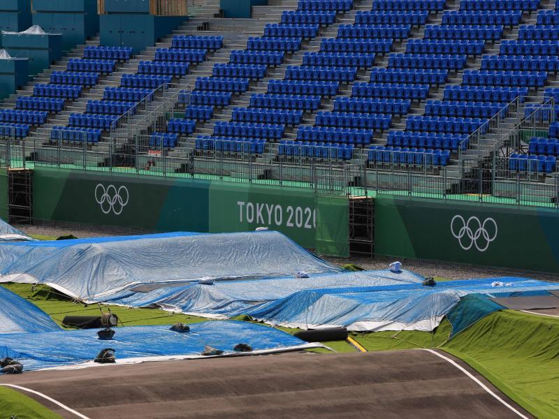 Die Olympia-Eröffnungszeremonie in Tokio wird möglicherweise ohne Zuschauer über die Bühne gehen. Foto: Stanislav Kogiku/SOPA Images via ZUMA Wire/dpa