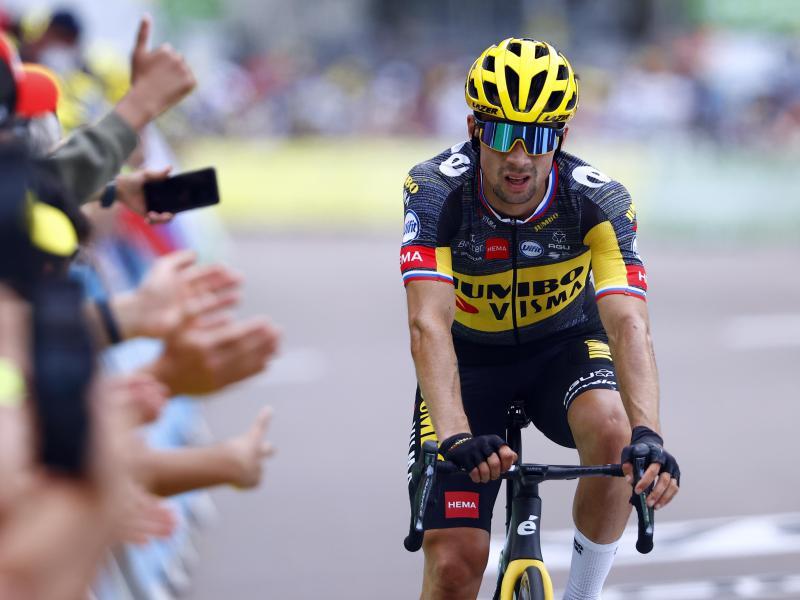 Beendet die 108. Tour de France vorzeitig: Primoz Roglic. Foto: Pool Luca Bettini/BELGA/dpa