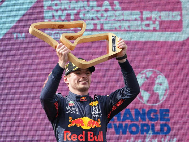 Feiert den fünften Sieg im neunten Rennen: Max Verstappen. Foto: Georg Hochmuth/APA/dpa