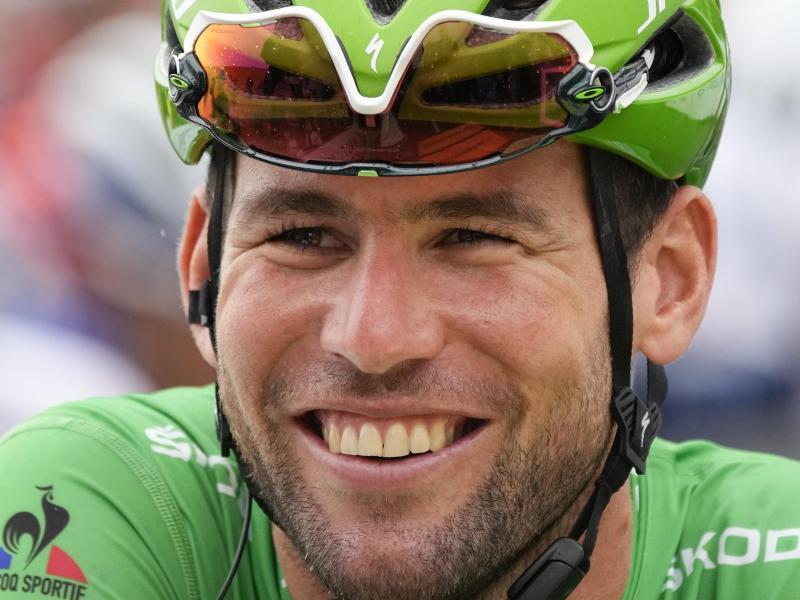 Mark Cavendish ist Favorit auf den Tagessieg. Foto: Christophe Ena/AP/dpa