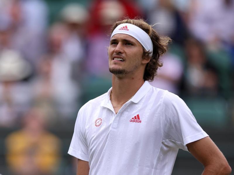 Ist in Wimbledon im Achtelfinale ausgeschieden: Alexander Zverev. Foto: Steven Paston/PA Wire/dpa