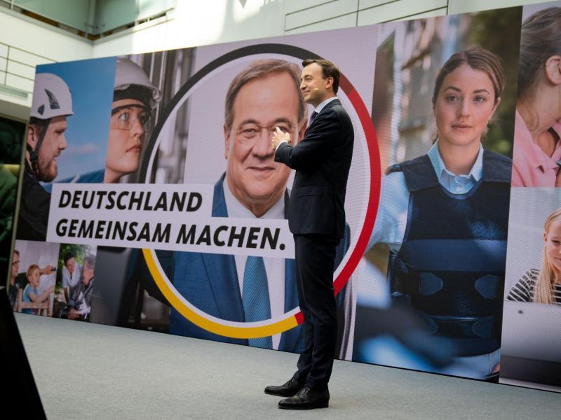 CDU-Generalsekretär Paul Ziemiak stellt die Kampagne für die Bundestagswahl vor. Foto: Kay Nietfeld/dpa