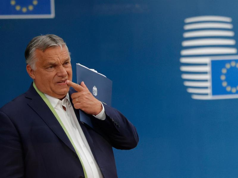 Viktor Orban, Ministerpräsident von Ungarn, hat Ärger mit der EU-Kommission. Foto: Olivier Matthys/Pool AP/dpa