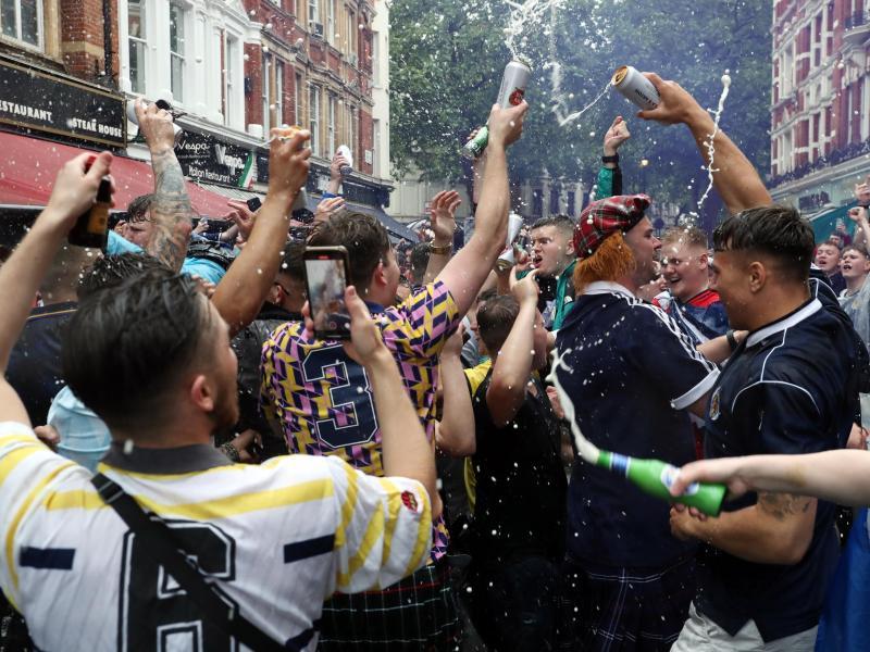 Schottland ist längst raus aus der EM - für einige Fans der Fußballnationalmannschaft hatte das Turnier aber unschöne Folgen. Foto: Kieran Cleeves/PA Wire/dpa