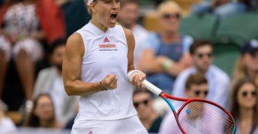 Das Publikum gibt ihr Kraft: Angelique Kerber feiert einen Sieg in Wimbledon. Foto: Simon Bruty/Aeltc Pool/PA Wire/dpa
