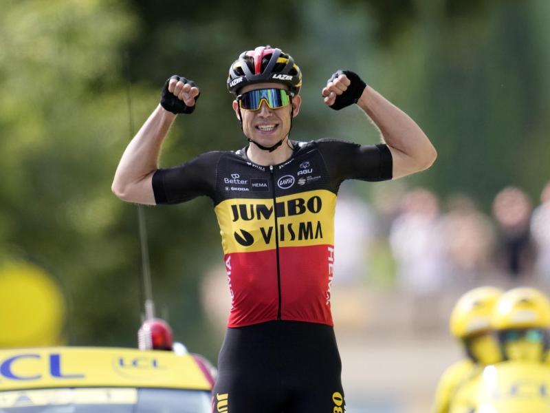 Etappensieger der 11. Etappe der Tour de France 2021: Wout Van Aert. Foto: Christophe Ena/AP/dpa