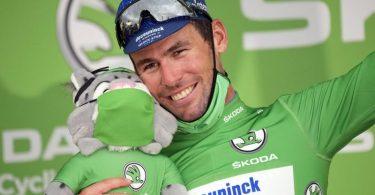 Jagt den Rekord von Eddy Merckx: Mark Cavendish. Foto: Christophe Ena/AP/dpa