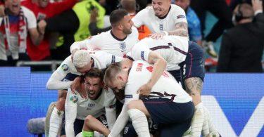 England steht nach dem Sieg gegen Dänemark im EM-Finale gegen Italien. Foto: Nick Potts/PA Wire/dpa