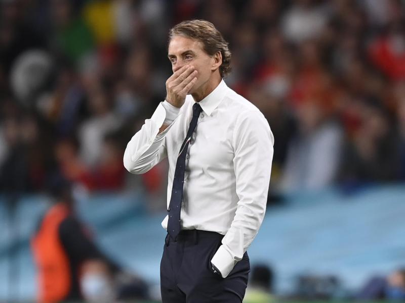 Bereitet sein Team in heimischen Gefilden auf dasEM-Finale in Wembley vor: Italien-Coach Roberto Mancini. Foto: Fabio Ferrari/LaPresse via ZUMA Press/dpa