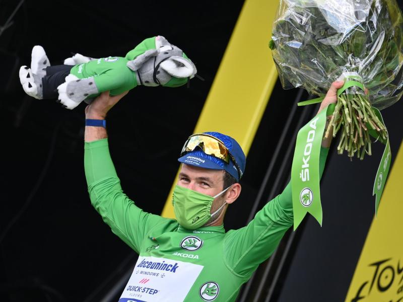 Kann Mark Cavendish nach der 13. Etappe sich für seinen 34.Tour-Etappensieg feiern lassen?. Foto: David Stockman/BELGA/dpa