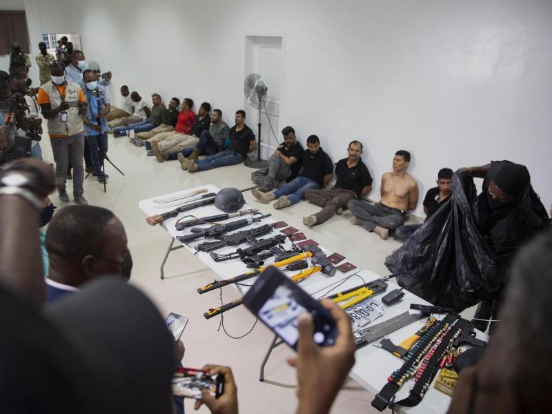 Präsident Moïse wurde am frühen Mittwoch bei einem Angriff auf sein Privathaus ermordet. Foto: Joseph Odelyn/AP/dpa