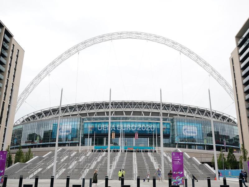 Der Ort des Endspiels: Das Londoner Wembley-Stadion. Foto: Zac Goodwin/PA Wire/dpa