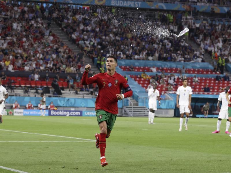 Portugals Cristiano Ronaldo führt die Torschützenliste des Turniers weiter an. Foto: Bernadett Szabo/Reuters Pool/AP/dpa