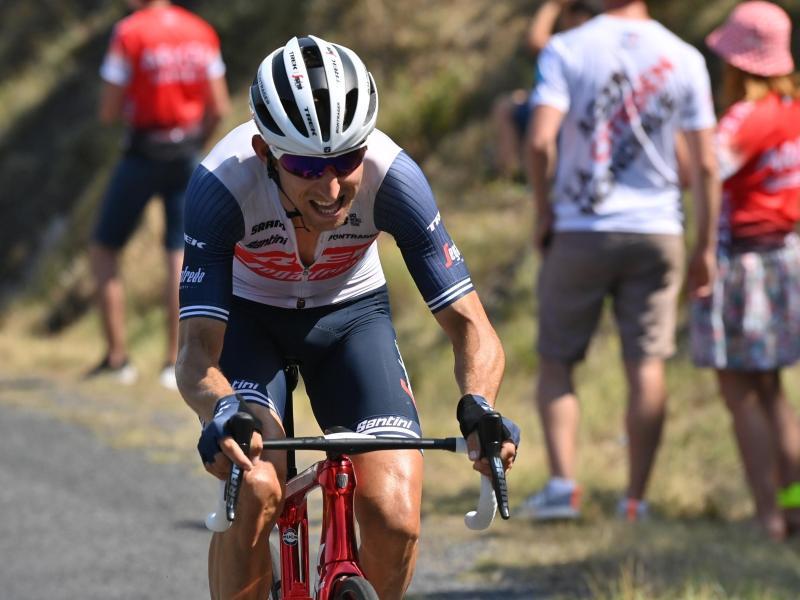 Mollema vom Team Trek-Segafredo hat die 14. Etappe für sich entschieden. Foto: David Stockman/BELGA/dpa