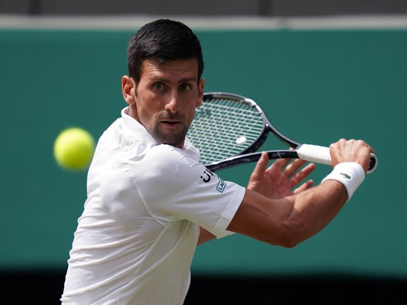Wimbledon-Sieger 2021: Der Weltranglistenerste Novak Djokovic. Foto: John Walton/PA Wire/dpa
