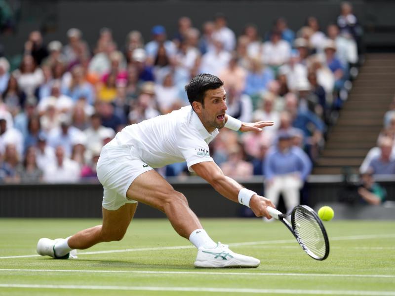 Novak Djokovic in Aktion. Foto: John Walton/PA Wire/dpa