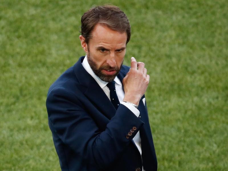 Stellt gegen Italien überraschend auf Dreierkette um: Englands Nationaltrainer Gareth Southgate. Foto: Alessandro Garofalo/Pool Reuters/dpa