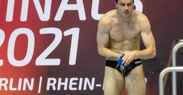 Wasserspringer Patrick Hausding. Foto: Andreas Gora/dpa