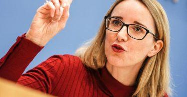 Ethikratsvorsitzende Alena Buyx hält eine Impfpflicht für bestimmte Berufsgruppen für unnötig. Foto: Michael Kappeler/dpa
