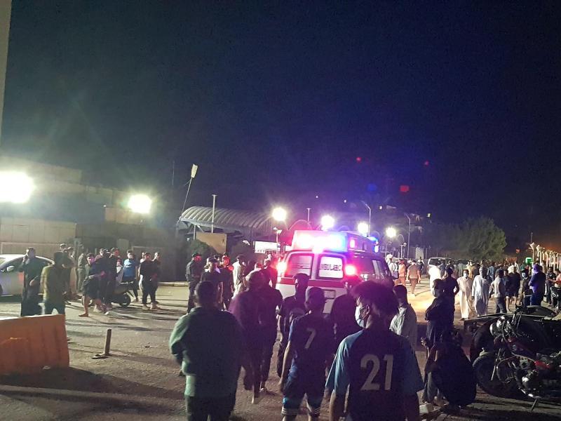 Der Krankenhausbrand in Nassirija hat viele Opfer gefordert. Foto: Uncredited/AP/dpa
