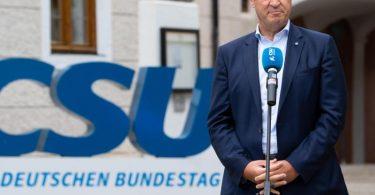 Bayerns Ministerpräsident Söder zeigte sich «verwundert» über Laschets Aussagen zu Steuersenkungen. Foto: Sven Hoppe/dpa
