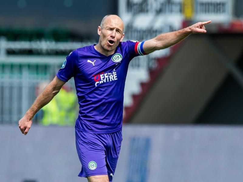 Hört endgültig auf mit dem Profifußball: Arjen Robben. Foto: Cor Lasker/ANP/dpa