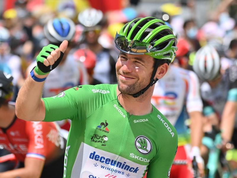 Kann auf der 19. Etappe seinen 35. Tour-Tagessieg holen: Mark Cavendish. Foto: David Stockman/BELGA/dpa