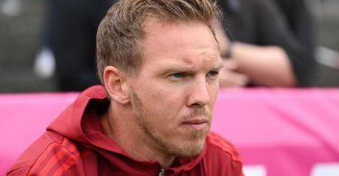 Julian Nagelsmann musste in seinem ersten Testspiel als Bayern-Trainer auf fast alle Leistungsträger verzichten. Foto: Silas Stein/dpa